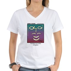 #90 Laughter Women's V-Neck T-Shirt