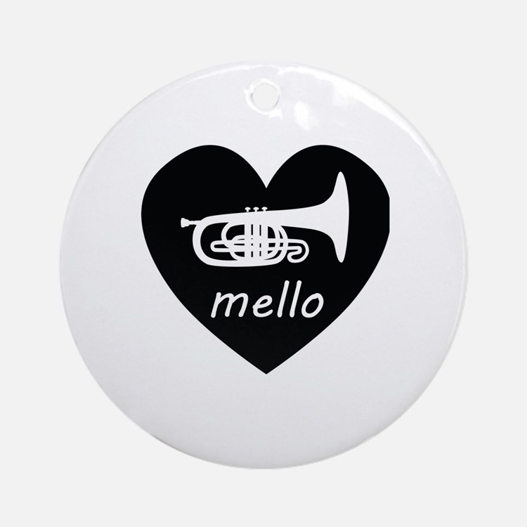 Cute Mellophone Round Ornament