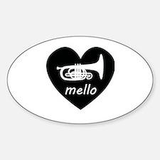 Cute Mellophone Sticker (Oval)