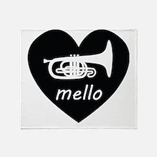 Cute Mellophone Throw Blanket