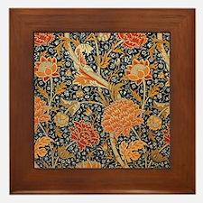 Floral by William Morris Framed Tile