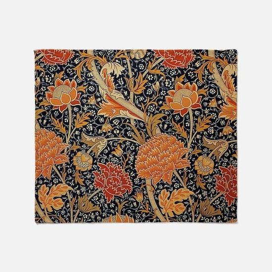 Floral by William Morris Throw Blanket