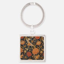 Floral by William Morris Keychains