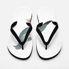 Grey pigeon Flip Flops