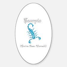 Cute Scorpio zodiac Sticker (Oval)