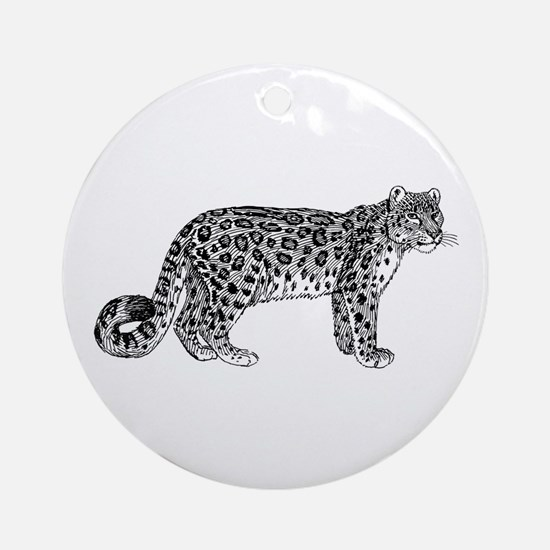 Snow leopard Round Ornament