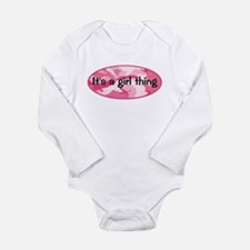 Funny Pink camouflage Long Sleeve Infant Bodysuit