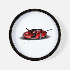 Red lamborghini Wall Clock