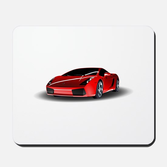 Red lamborghini Mousepad