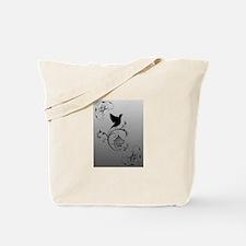 BlackBird on Pewter Tote Bag