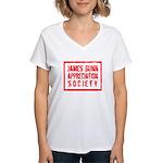 JGAS Red Women's V-Neck T-Shirt