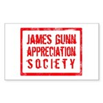 JGAS Red Rectangle Sticker
