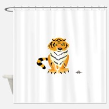 Tiger with Mouse Shower Curtain