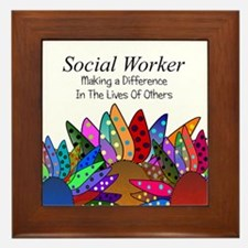 Social Worker Quote Framed Tile