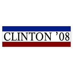 Clinton '08 campaign bumper sticker