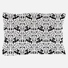 Vintage Black White Swirl Pillow Case