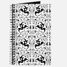 Vintage Black White Swirl Journal