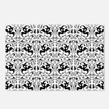 Vintage Black White Swirl Postcards (Package of 8)