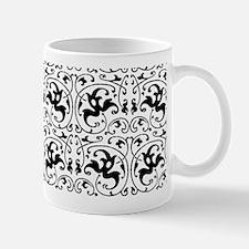 Vintage Black White Swirl Mugs