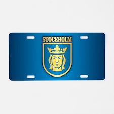 Stockholm Aluminum License Plate