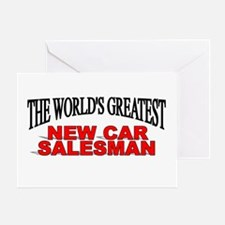 """The World's Greatest New Car Salesman"" Greeting C"