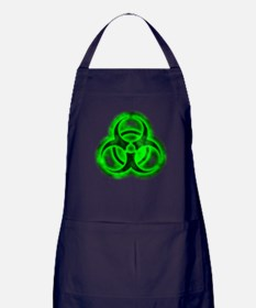 Green Biohazard Symbol Apron (dark)