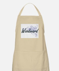 Woodward surname artistic design with Flower Apron