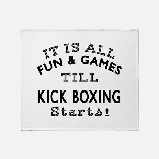 Kick Boxing Fun And Game Designs Throw Blanket