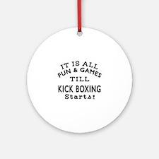 Kick Boxing Fun And Game Designs Round Ornament