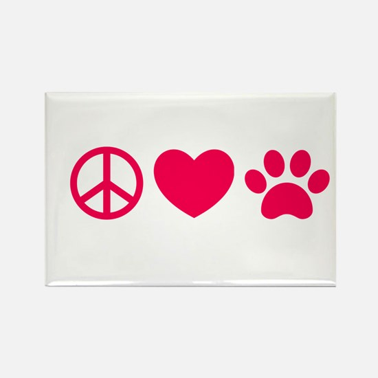 Peace, Love, Pets Magnets