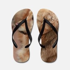 Cool Golden retriever Flip Flops