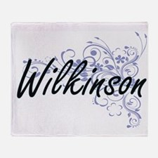 Wilkinson surname artistic design wi Throw Blanket