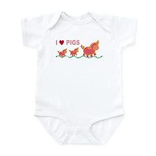 I Love Pigs Infant Creeper