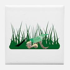 Worm Sleeping Tile Coaster