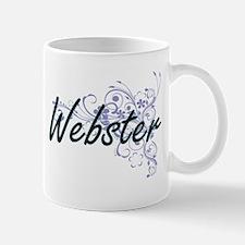 Webster surname artistic design with Flowers Mugs