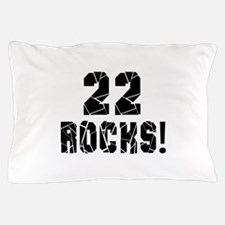 22 Rocks Birthday Designs Pillow Case