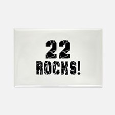 22 Rocks Birthday Designs Rectangle Magnet