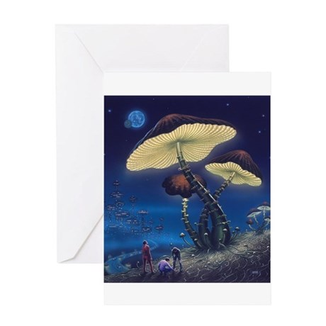 Phosphorescent Fungi Greeting Card