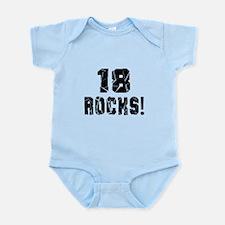 18 Rocks Birthday Designs Infant Bodysuit