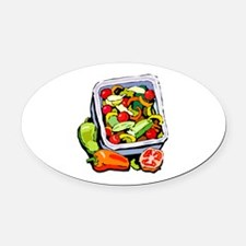 Vegetable salad mix Oval Car Magnet