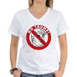 Anti donald trump Womens V-Neck T-shirts