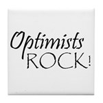 Optimists Rock Tile Coaster