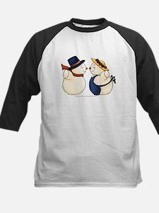 Cute Snowmen Image Tee