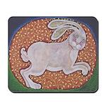 Rabbit Running west Mousepad
