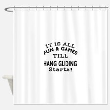 Hang Gliding Fun And Games Designs Shower Curtain