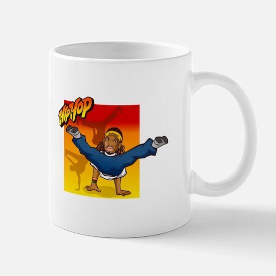 HipHop man dancing on hands Mugs