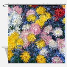 Chrysanthemums 1897 Shower Curtain