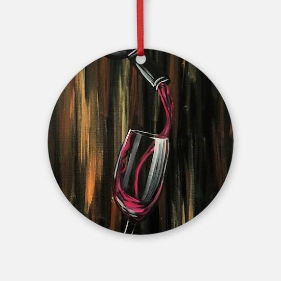 Fine Wine Round Ornament
