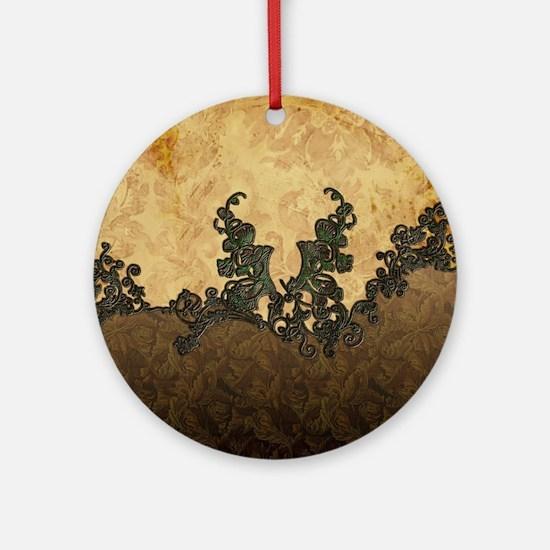 Beatiful dark vintage art Round Ornament