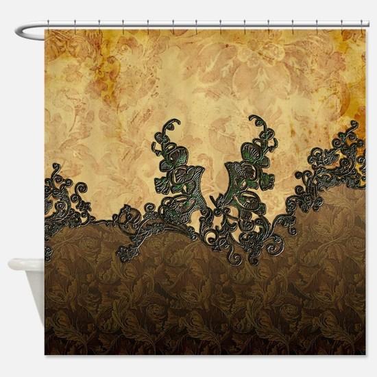 dark brown shower curtain. Beatiful dark vintage art Shower Curtain Dark Brown Curtains  CafePress